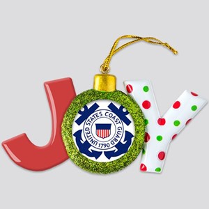 USCG-Logo-2-Blue.gi... Joy Ornament