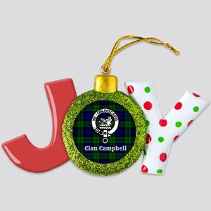 Clan Campbell Tartan Crest Joy Ornament