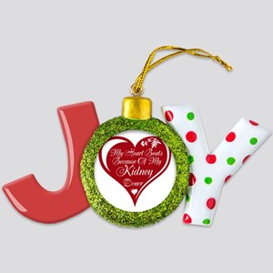 Personalize Me Red Transplant Heart Joy Ornament