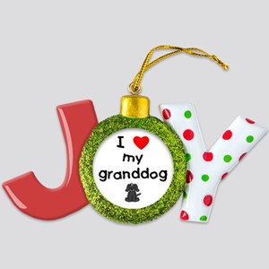 I love my granddog (4) Joy Ornament