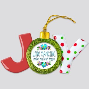 Line Dancing Heart Happy Joy Ornament
