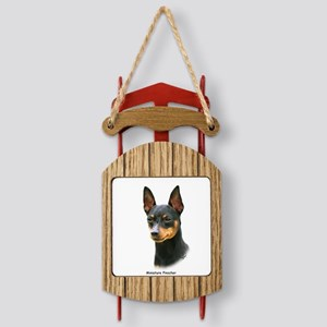Miniature Pinscher 8A083-13 Sled Ornament