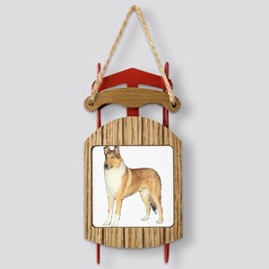 Smooth Collie Sled Ornament