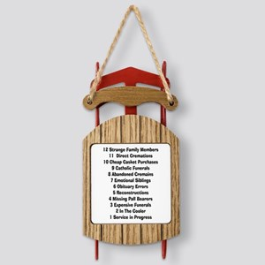 12 days of funeral home Sled Ornament