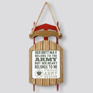 Proud Army Mom 2 Sled Ornament