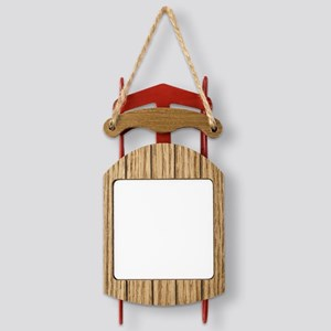 Winter night in the Mountains  Sled Ornament