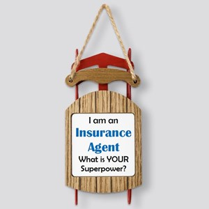 Insurance Agent Sled Ornament