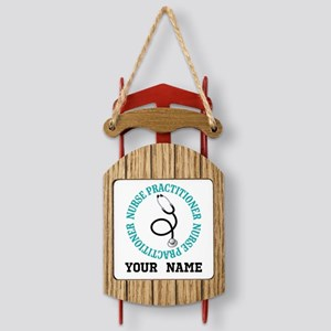 Nurse Practioner Personalized Sled Ornament