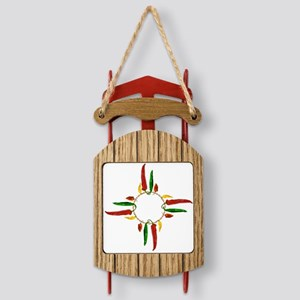 Chile pepper zia symbol Sled Ornament