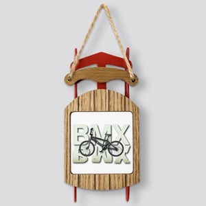 BMX Graphite Bikes Graphic Designs Sled Ornament
