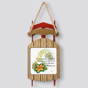 Lilies of the Field Sled Ornament