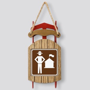brown_ranger_station_sign_real Sled Ornament