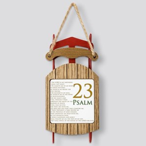 twenty third psalm Sled Ornament