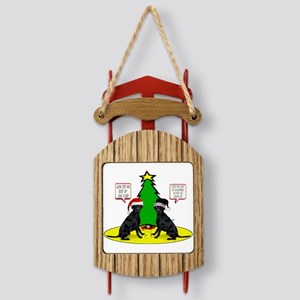 Christmas Tree Labs Sled Ornament