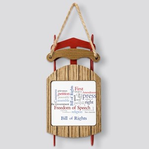 Freedom of Speech: First Amendment Sled Ornament