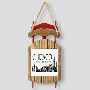 Chicago My Town Sled Ornament