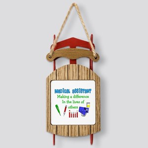 Medical Assistant making a Difference Sled Ornamen