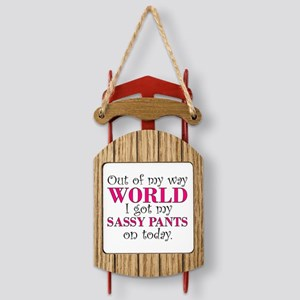 Sassy Pants Sled Ornament
