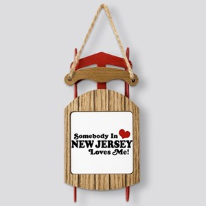 newjerseyloves Sled Ornament