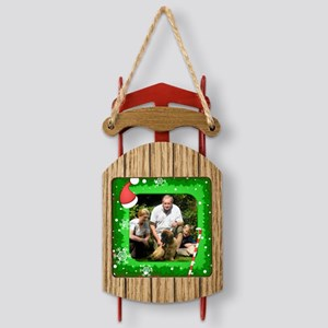 Christmas-Sq Sled Ornament