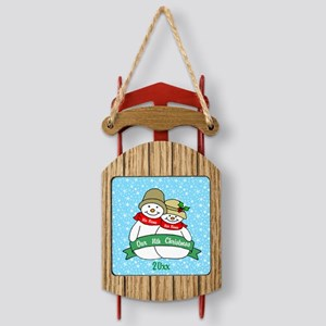 Our Nth Christmas Sled Ornament