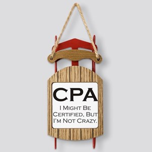 CPA_Crazy_3000x3000 Sled Ornament