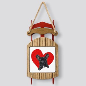 frenchielove10x10 Sled Ornament