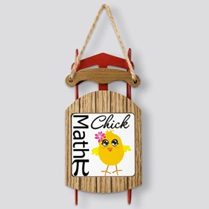 Math Chick Sled Ornament