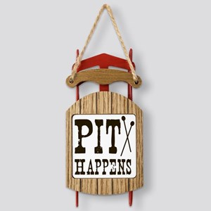 Pit Happens Sled Ornament