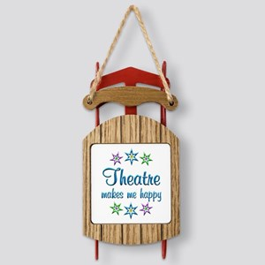Theatre Happy Sled Ornament