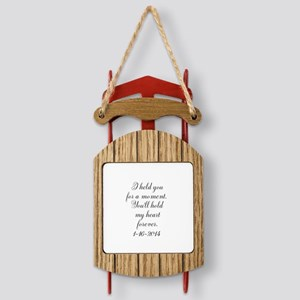 Personalizable For a Moment Sled Ornament