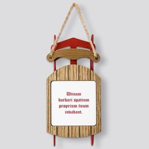 Latin Smack Down! Sled Ornament