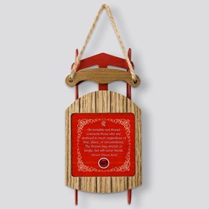 Red Thread Sled Ornament