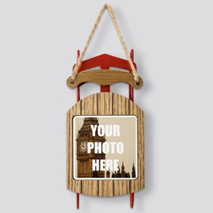 Your Photo Here Personalize It! Sled Ornament