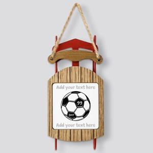 Soccer Sled Ornament