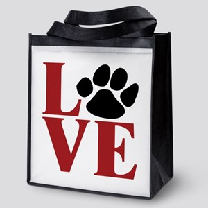 Love Paw Reusable Grocery Tote Bag