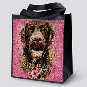 Labrador Retriver Reusable Grocery Tote Bag