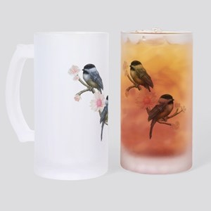 chickadee bird Frosted Stein