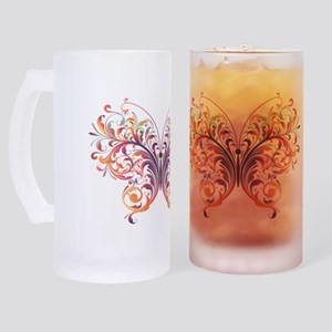 Fantasy Art Butterfly Frosted Stein