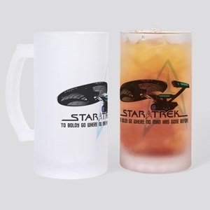Star-Trek-To-Boldy-Go Frosted Stein