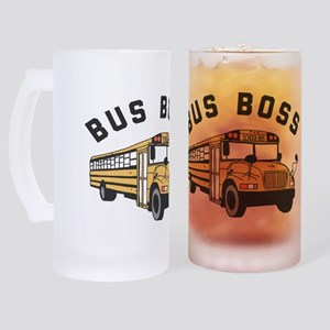Bus Boss Frosted Stein