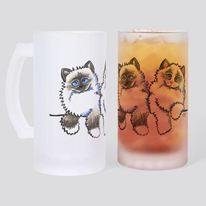 Ragdolls Pair Off-Leash Art™ Frosted Stein