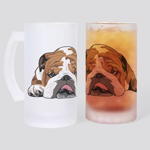 Teddy the English Bulldog Frosted Stein