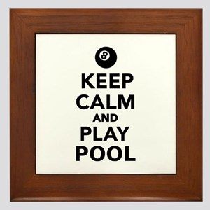 Keep calm and play pool billiards Framed Tile