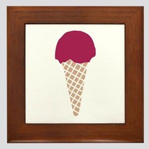 Ice cream Framed Tile
