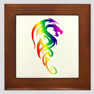 Tribal Dragon Framed Tile