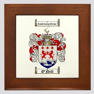 O'Neill Family Crest Framed Tile