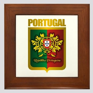 """Portuguese Gold"" Framed Tile"