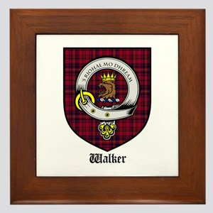 Walker Clan Crest Tartan Framed Tile