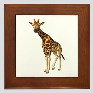 The Giraffe Framed Tile